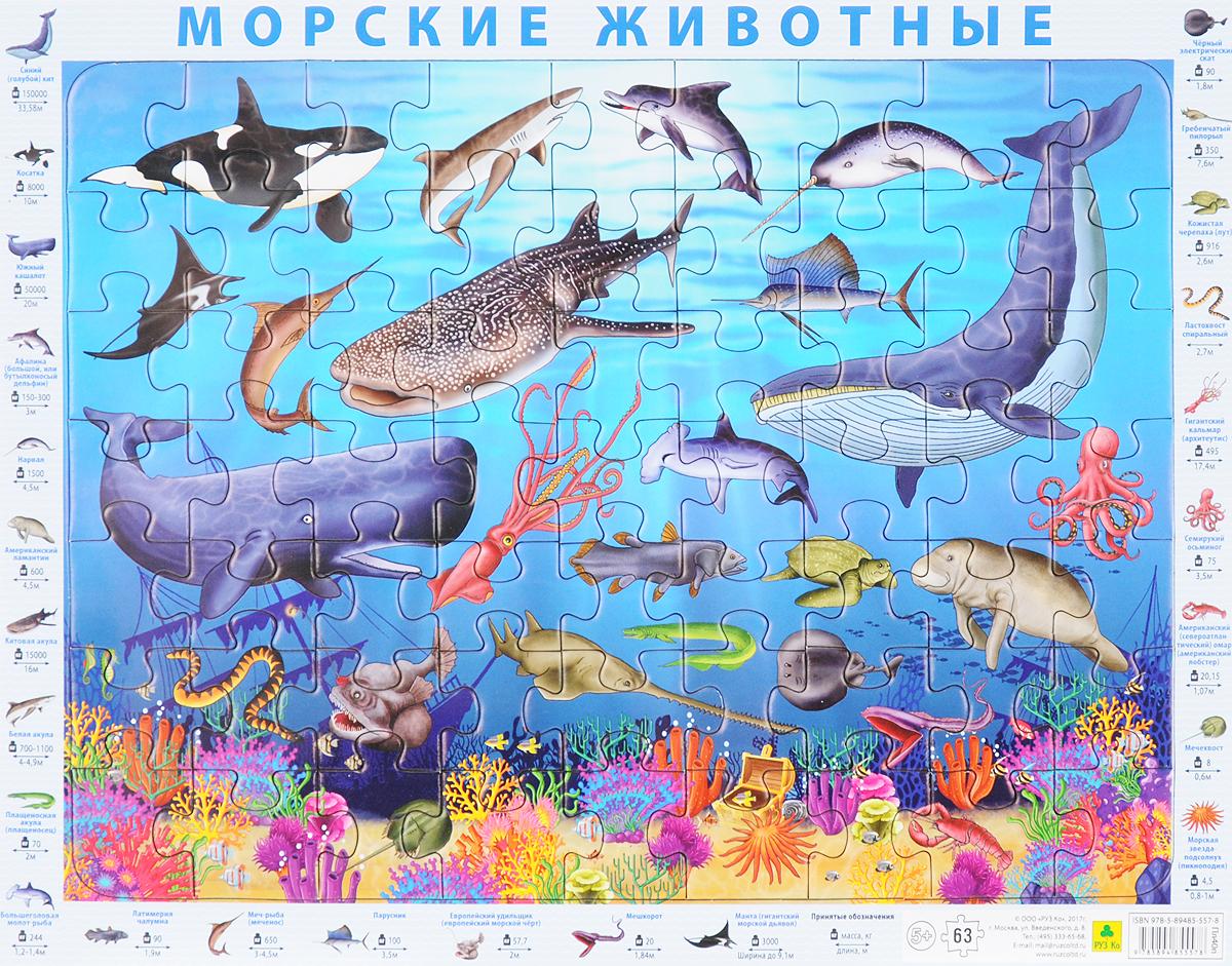 Морские животные. Пазл