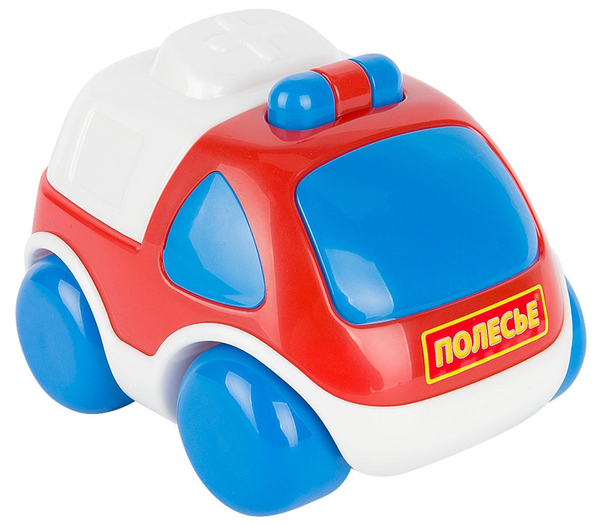 Полесье Автомобиль Карат Скорая помощь, цвет в ассортименте автомобиль пластмастер малютка зефирки цвет в ассортименте 31172