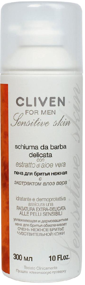 Cliven Пена для бритья Нежная с экстрактом Алоэ Вера 300мл