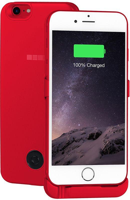 Interstep чехол-аккумулятор для Apple iPhone 7/6, Red (3000 мАч) interstep чехол аккумулятор для apple iphone 7 6 red 3000 мач