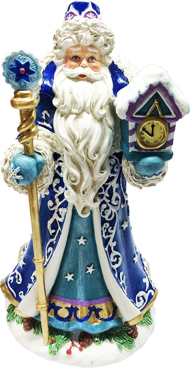 Фигурка новогодняя Magic Time Дед Мороз с часами фигурка новогодняя magic time снеговик и список подарков высота 8 см