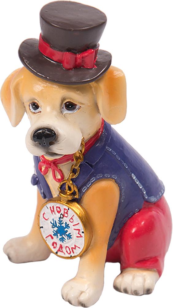 Фигурка декоративная Magic Time Собака в цилиндре елочные украшения magic time декоративная фигурка