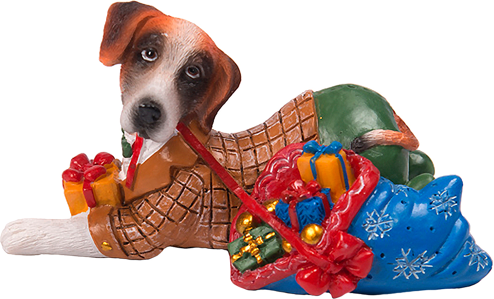 Фигурка декоративная Magic Time Собака с подарками. 75588