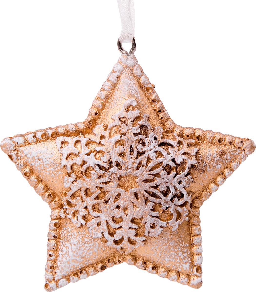 Украшение новогоднее подвесное Magic Time Снежная звездочка новогоднее подвесное украшение лягушка цвет золотистый желтый ф21 1711
