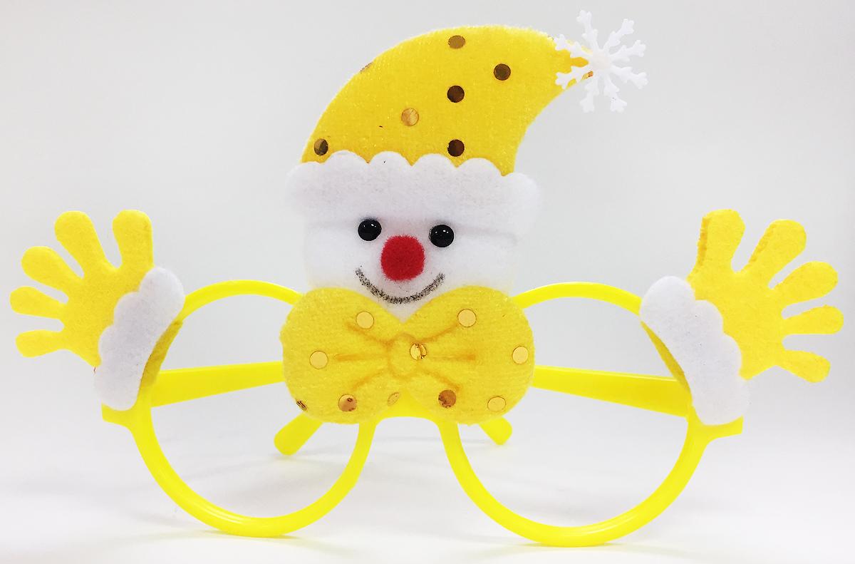 Очки новогодние Magic Time Снеговик, цвет: желтый очки новогодние magic time варежки 76192
