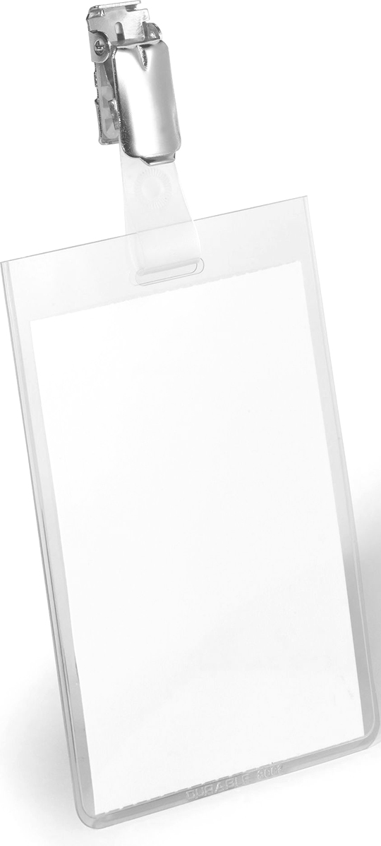 Durable Бейдж вертикальный с клипом durable бейдж 8135 19