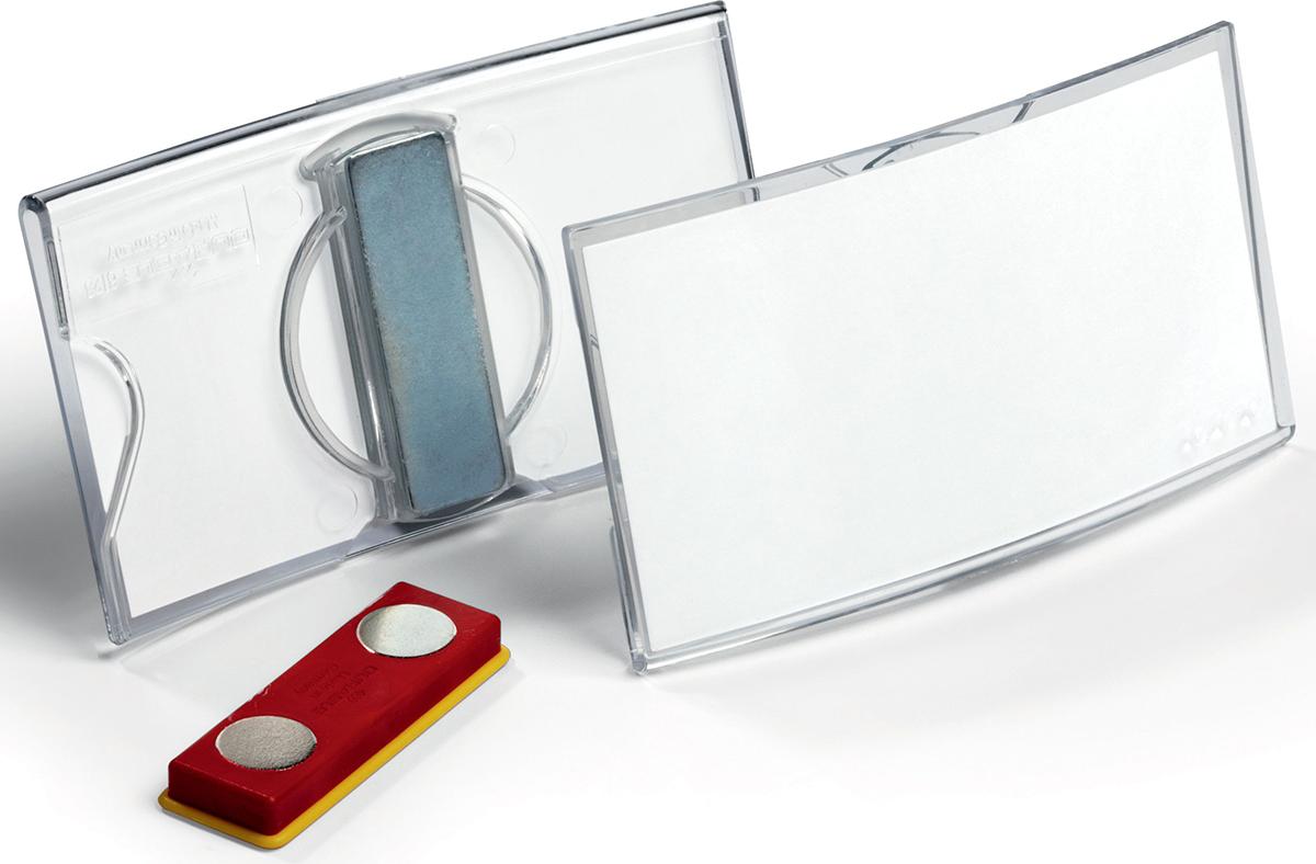 Durable Бейдж Konvex горизонтальный с магнитом durable бейдж 8135 19
