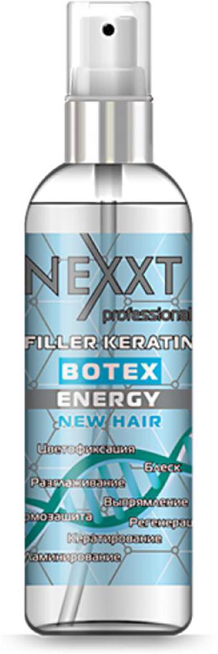 Филлер Кератин-Ботекс Nexxt Professional, 100 мл жидкие кристаллы для волос nexxt professional salon treatment 100 мл восстанавливающий коктейль