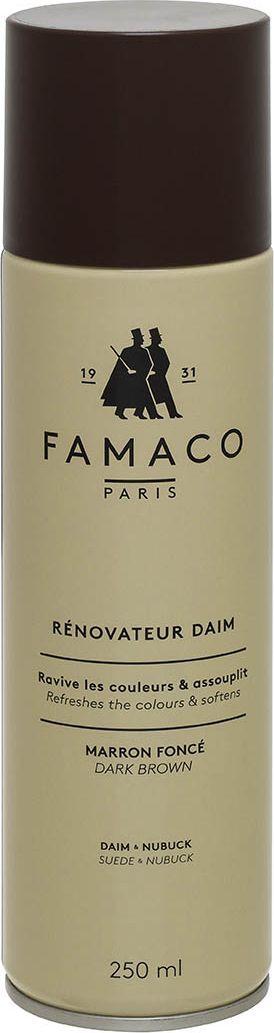 AEROSOL DAIM 250 ML FAMACO MARRON MOYEN , Восстановитель цвета для замши, FAMACO, коричневый, 250 мл шнурки famaco