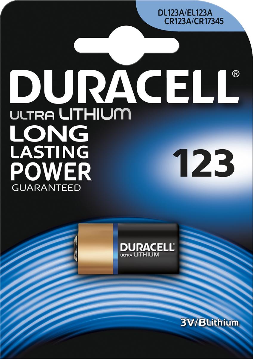 Фотобатарейка литиевая Duracell Ultra, специальная, тип 123, 1 шт
