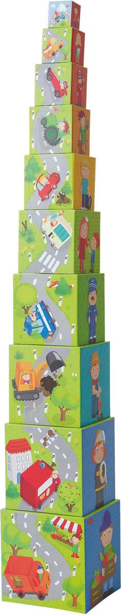 Haba Обучающая игра Пирамида из коробочек Машинки haba обучающая игра кукла лилли