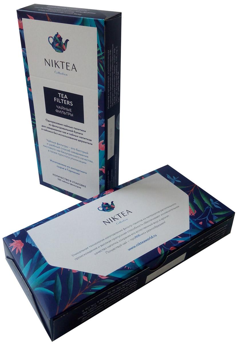 Niktea фильтр-пакеты для заваривания чая, 100 шт