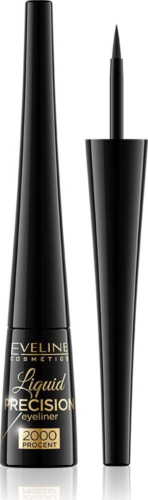 Eveline Водостойкая подводка для глаз матт Liquid Precision Liner 2000 procent, 4 мл artdeco подводка для век high precision liquid liner тон 01 0 55 мл