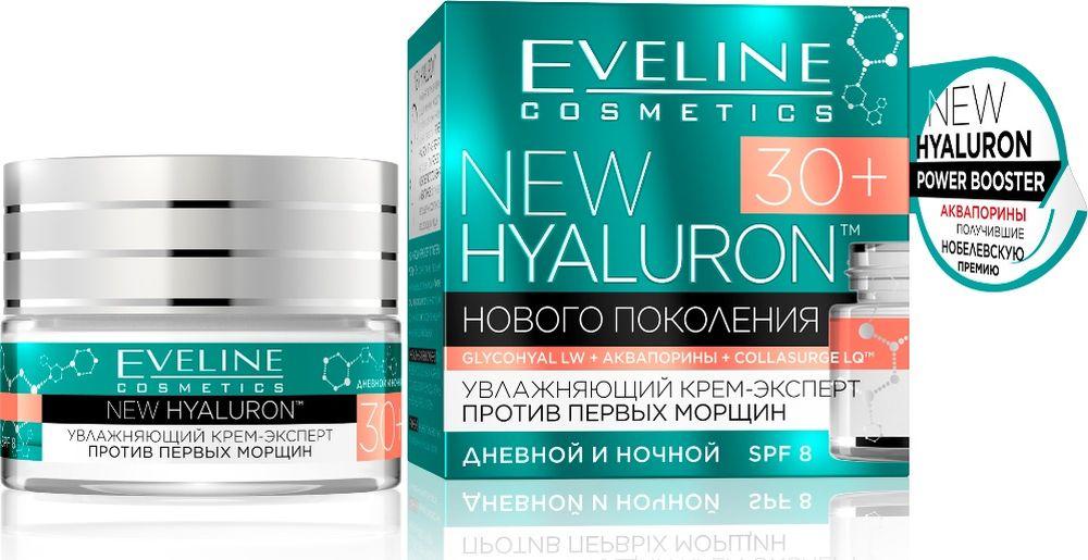 EvelineУвлажняющий крем-эксперт против первых морщин 30+ New Hyaluron, 50 мл Eveline Cosmetics