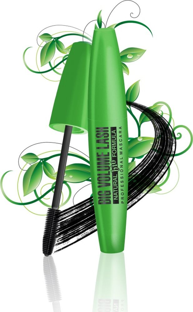 Eveline Тушь для ресниц natural Bio formula Big volume lash professional mascara 10 мл тушь для ресниц nyx professional makeup doll eye mascara long lash цвет black variant hex name 000000