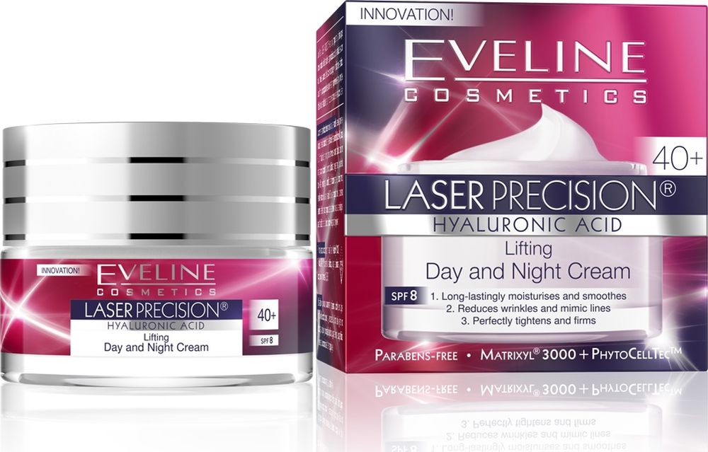 EvelineИнтенсивно укрепляющий крем-концентрат дневной и ночной 40+ Laser Precision, 50 мл Eveline Cosmetics