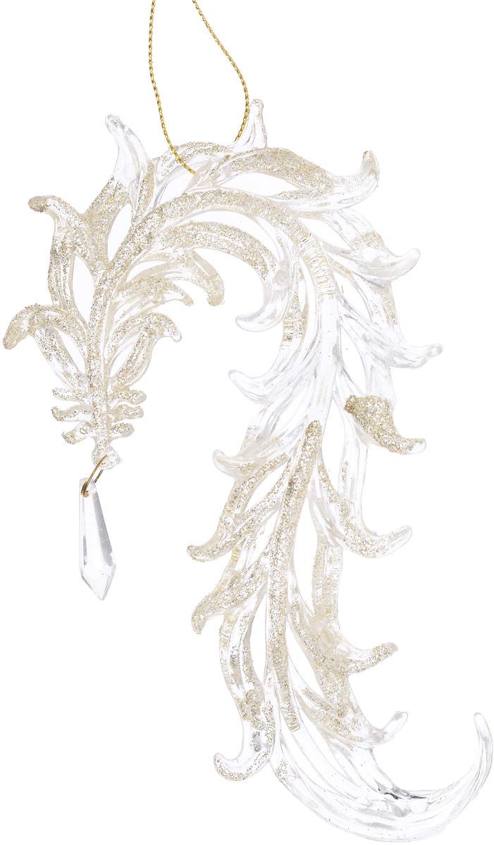 """Украшение новогоднее подвесное Magic Time """"Восточные драконы"""", цвет: прозрачный, золотой, длина 16,5 см"""