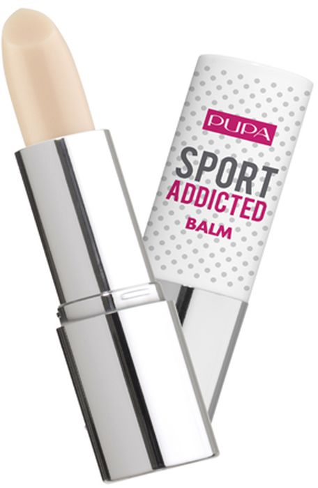 Pupa Бальзам для губ Sport Addicted Balm №001, оттенок Чистый ванильный, 21 г