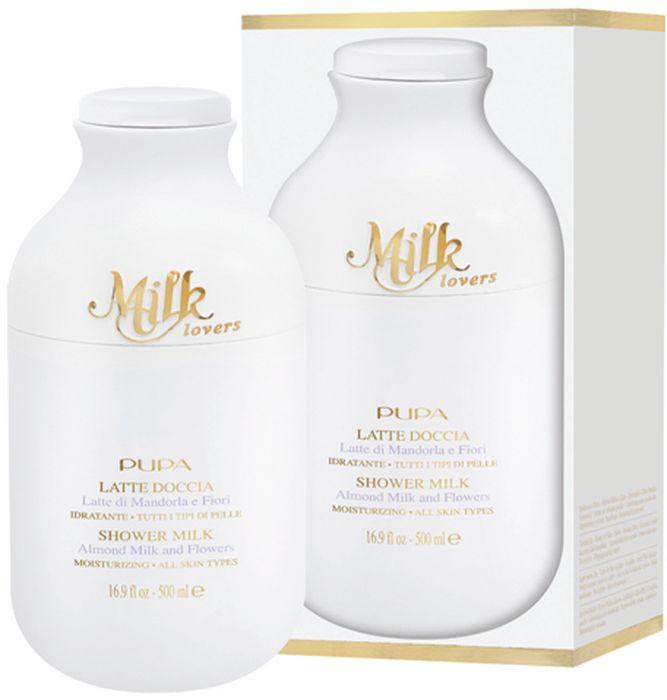 Pupa Гель для душа Milk Lovers, Миндальное молочко и цветы, 500 мл