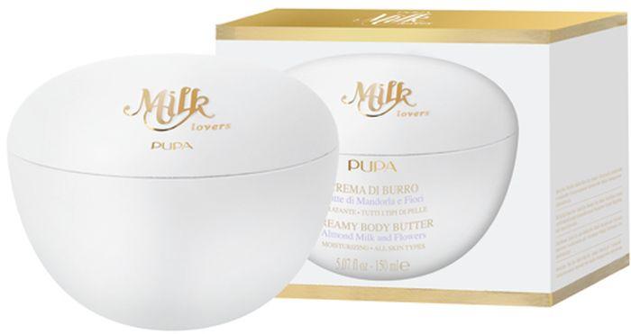 Pupa Крем-масло для тела Milk Lovers, Миндальное молочко и цветы, 150 мл