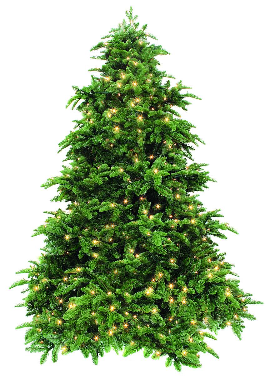 """Ель искусственная Triumph Tree """"Нормандия"""", напольная с LED гирляндой, высота 215 см"""