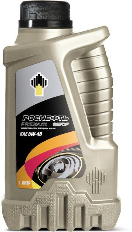 Масло моторное Роснефть Premium, синтетическое, класс вязкости 5W-40, 1 л моторное масло роснефть 4 л 40814942