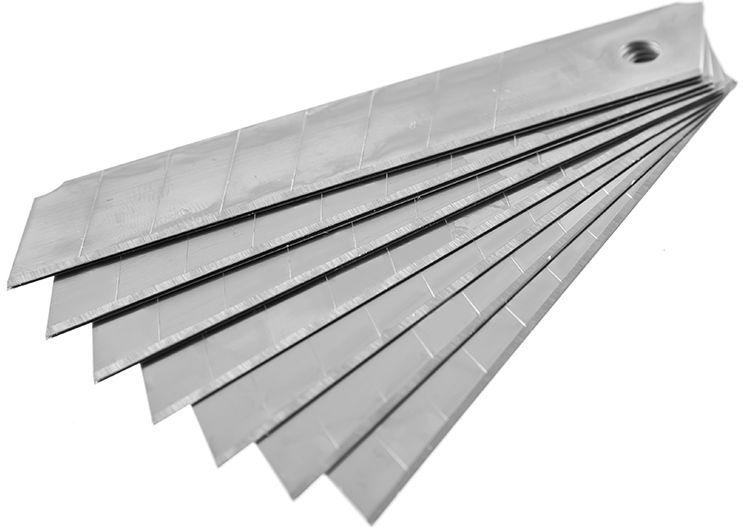 Лезвия Hammer Flex 601-001, с отламывающимися сегментами, 18 мм, 10 шт ключ разводной hammer flex 601 038 300 мм диаметр 35 мм crv