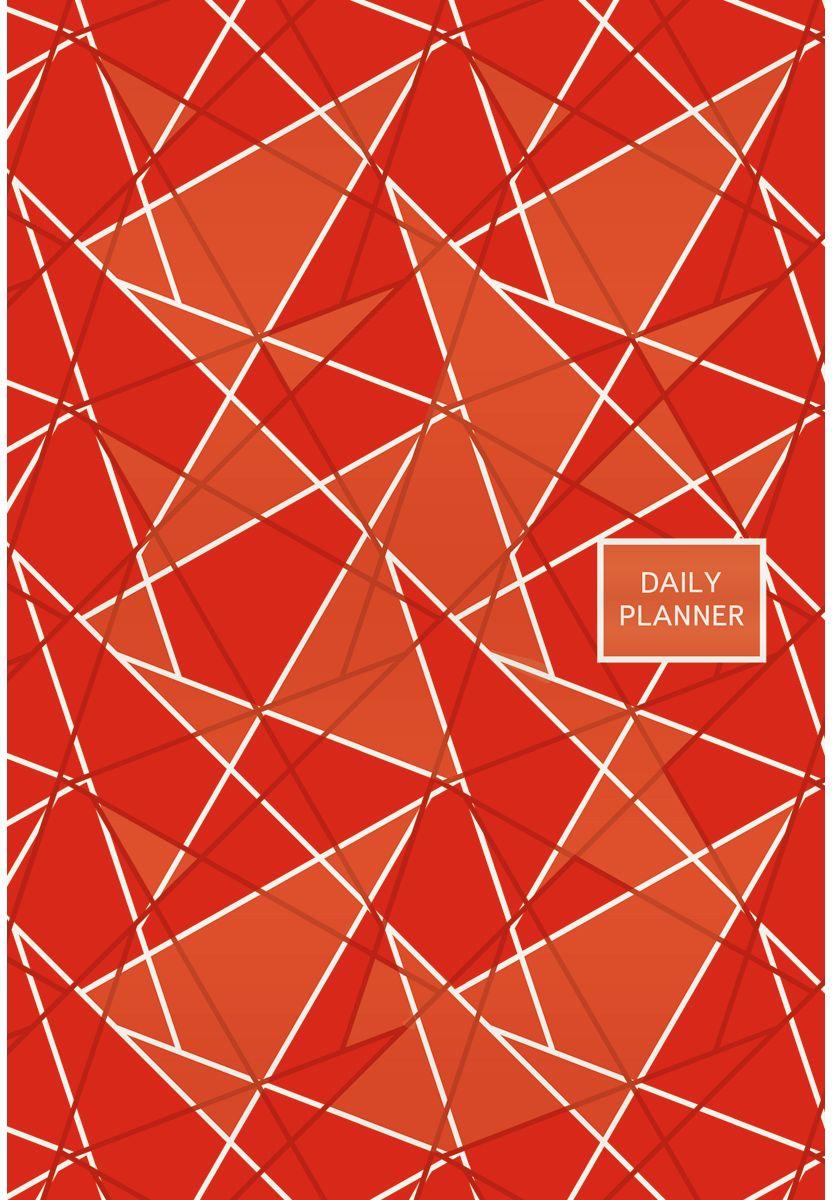 Канц-Эксмо Еженедельник Офисный стиль Геометрия полудатированный 192 листа цвет красный формат А5 ежедневник плановик maestro de tiempo issey полудатированный а5 144 листа бронзовый