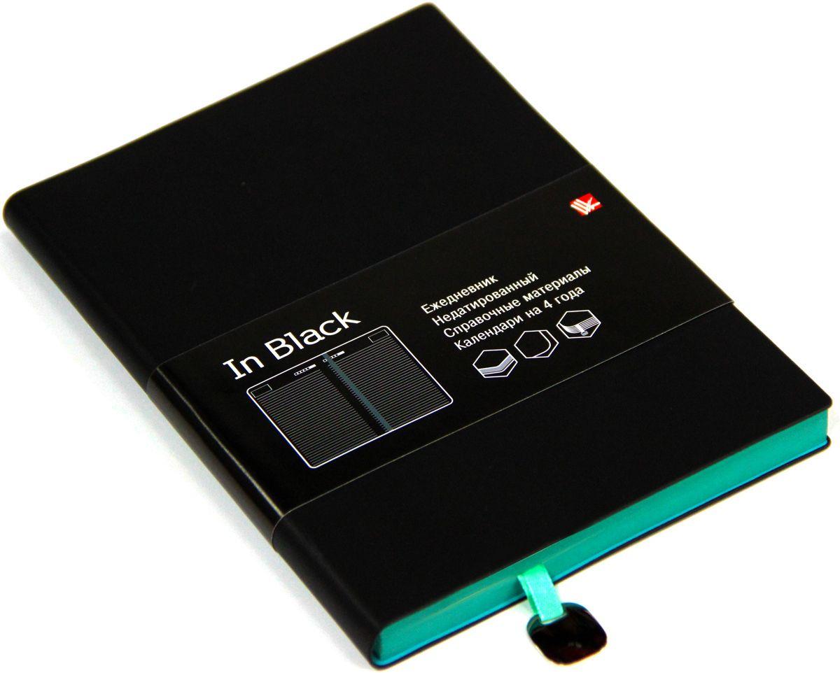 Канц-Эксмо Ежедневник In Black недатированный 136 листов цвет бирюзовый формат A5