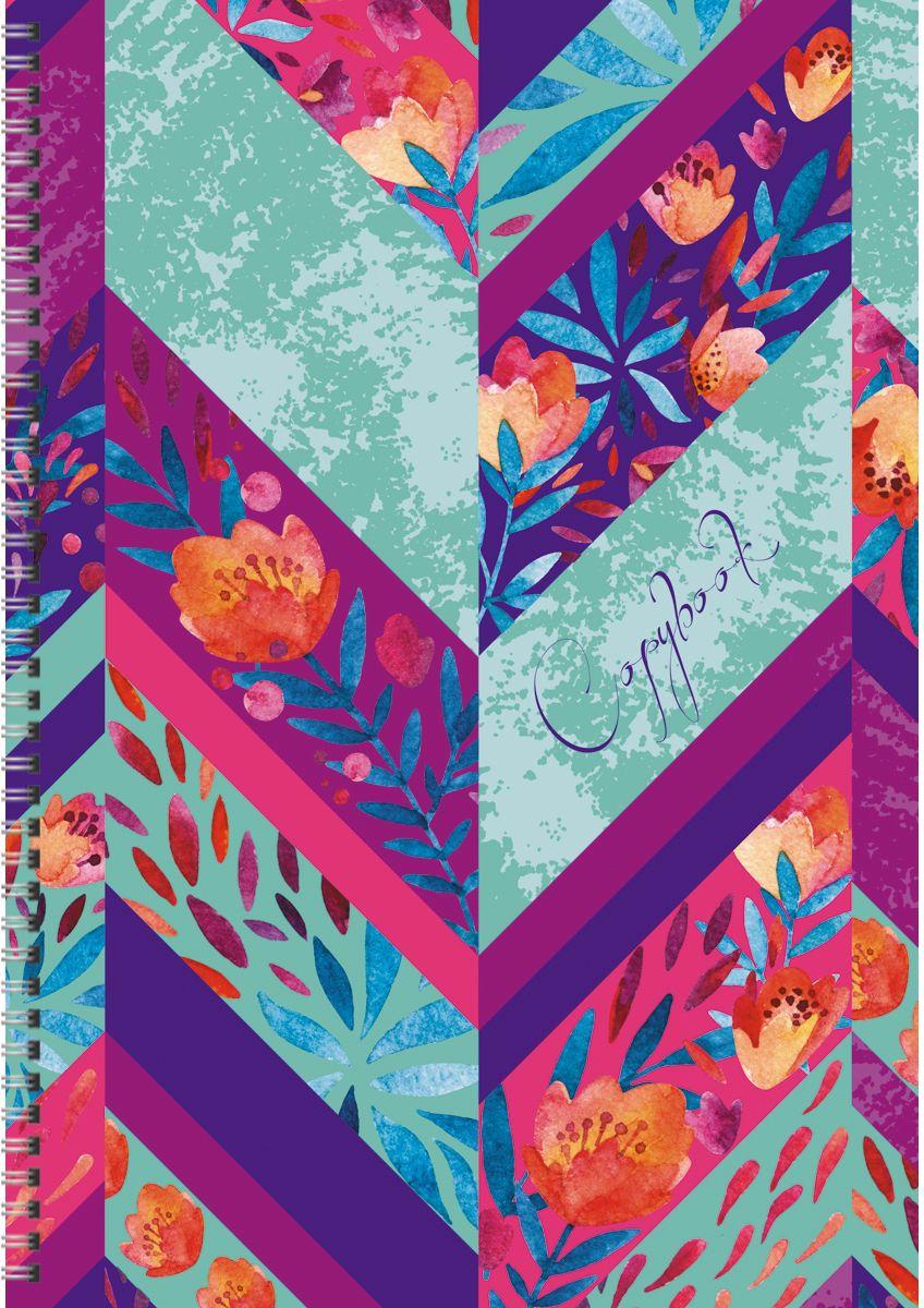 Канц-Эксмо Тетрадь Орнамент Цветочная палитра 80 листов в клетку формат А4
