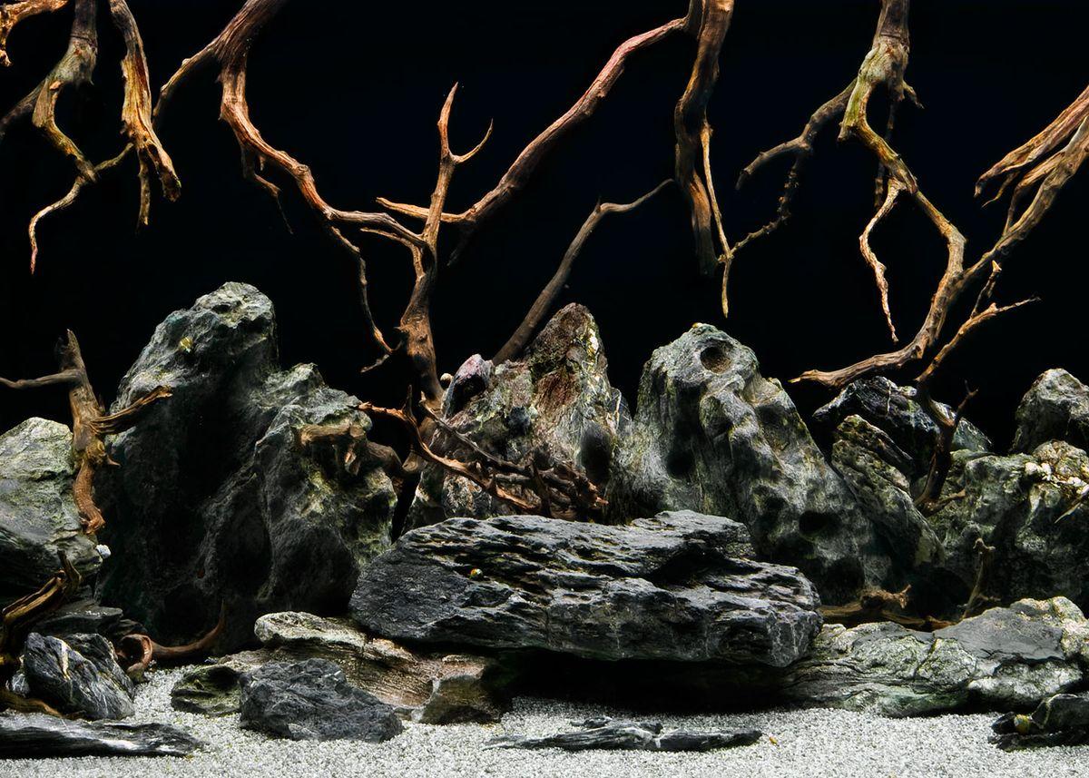 Фон аквариумный Barbus Морская лагуна. Натуральная мистика, двухсторонний, 45 см х 94