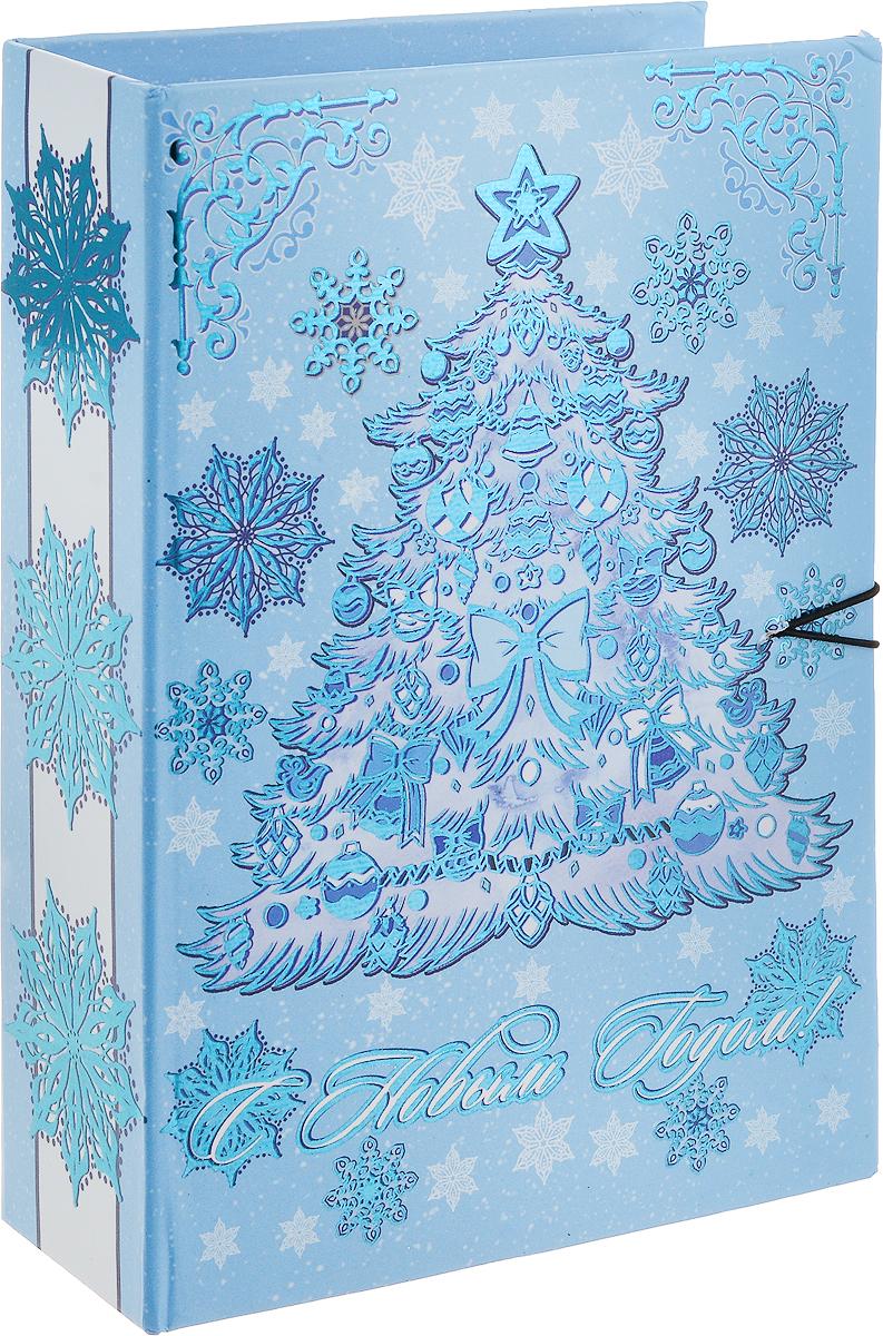 """Коробка подарочная Magic Time """"Елочка в голубом"""", 18 х 12 х 5 см"""