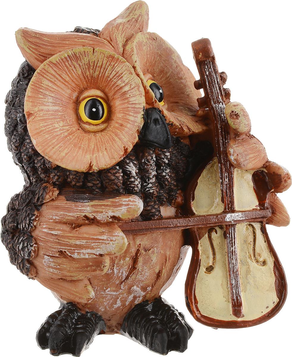 Фигурка декоративная Magic Time Сова с виолончелью. 75667 декоративная фигурка magic time свинка с фонариком 6 х 4 х 8 см