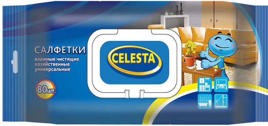 Салфетки влажные Celesta, универсальные, с клапаном, 80 шт набор пластиковых мисок для супа celesta festival цвет белый 500 мл 12 шт