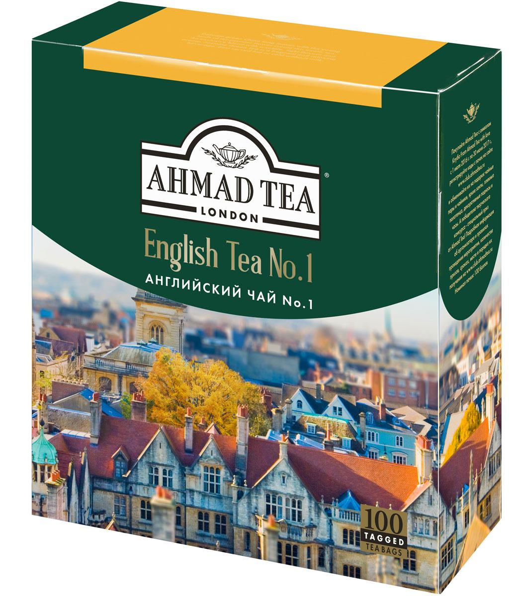 Ahmad Tea English Tea No.1 черный чай в пакетиках, 100 шт ahmad tea english tea no 1 черный чай в пакетиках с ярлычками в конвертах из фольги 25 шт
