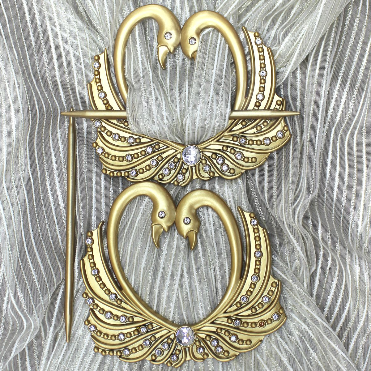 Заколка для штор TexRepublic Lebedi, цвет: золотистый, 2 шт. MI C8-2 цена