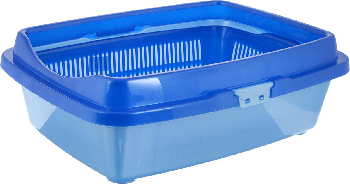 """Туалет для кошек DD Style """"Догуш"""", цвет: синий, голубой, 36 х 49,5 х 16,7 см"""