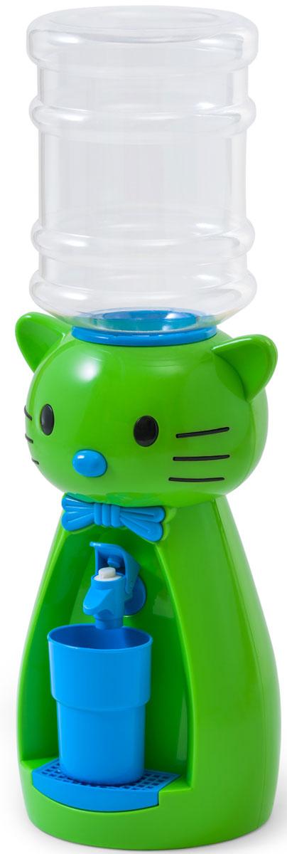 Кулер для воды Vatten Kids Kitty, Lime, со стаканчиком Vatten