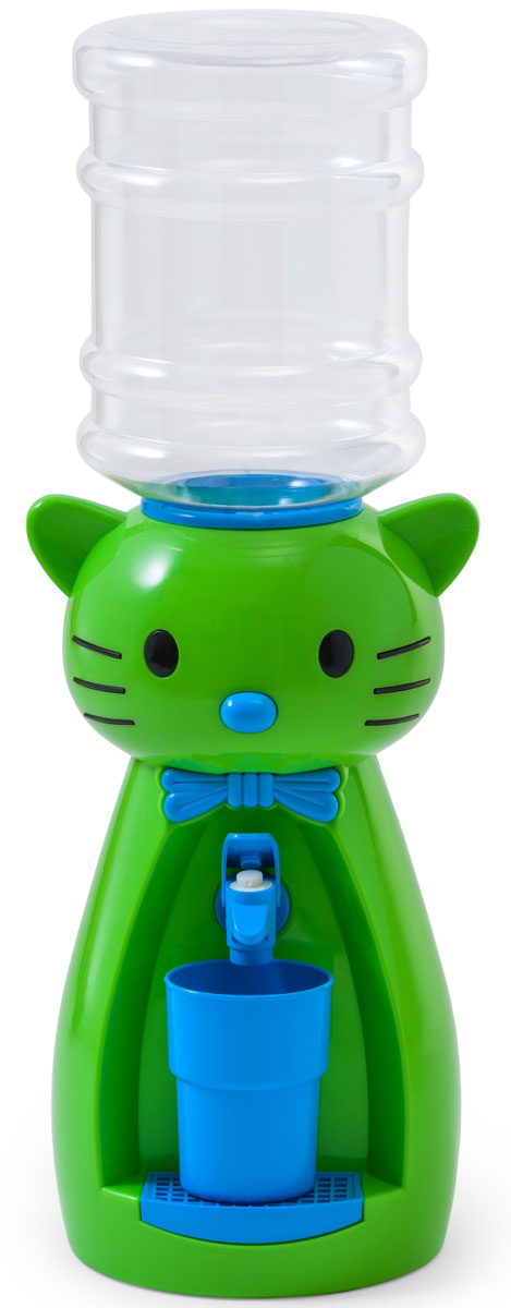 Кулер для воды Vatten Kids Kitty, Lime, со стаканчиком кулер для воды vatten kids mouse green red со стаканчиком