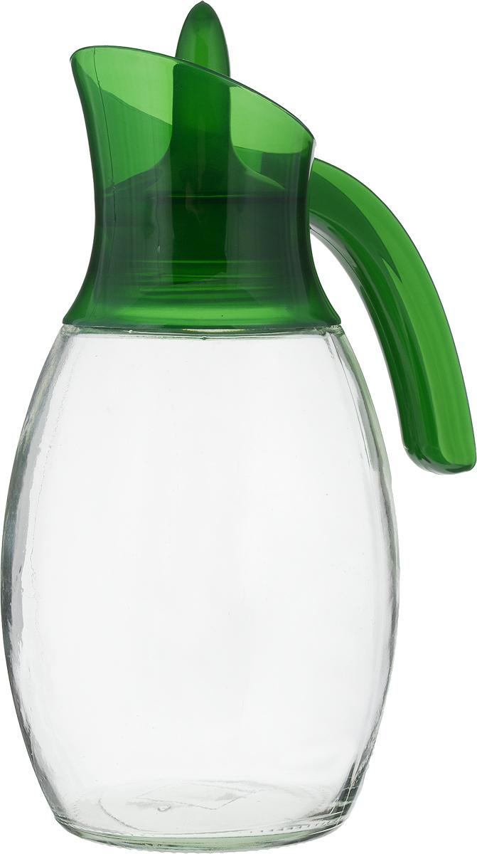 "Кувшин ""Herevin"", цвет: зеленый, прозрачный, 1,6 л. 111388-205"