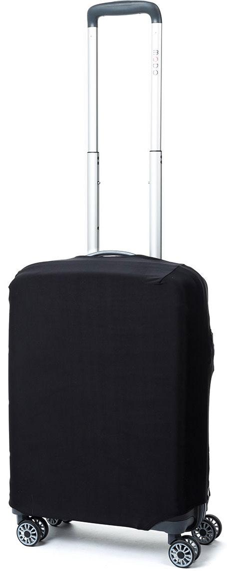 Чехол для чемодана Mettle Dark, цвет: черный. Размер S (высота чемодана: 50-55 см) чехол для чемодана mettle творческо размер m высота чемодана 55 70 см