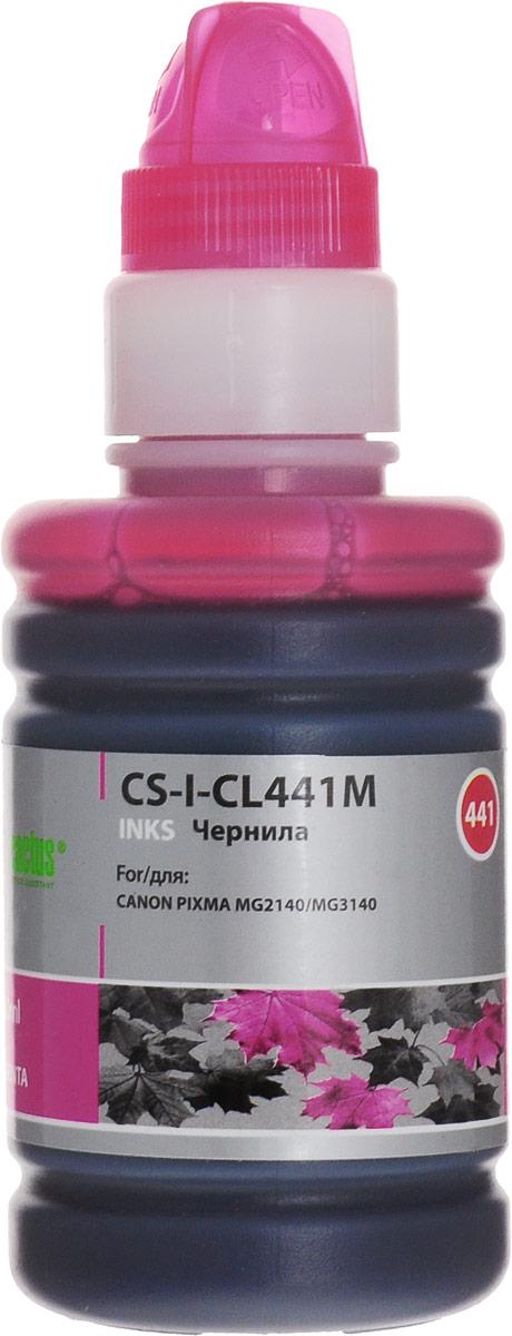 Cactus CS-I-CL441M, Magenta чернила для Canon Pixma MG2140/MG3140 комплект картриджей canon pg 440 cl 441 для pixma mg2140 mg3140