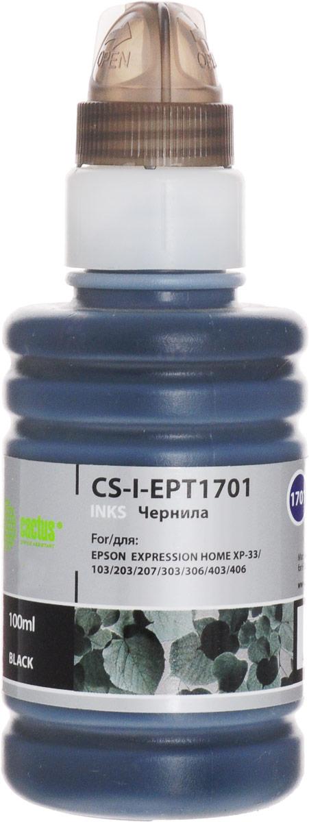 Cactus CS-I-EPT1701, Black чернила для Epson ExpIession Home XP-33/103/203/207/303/306