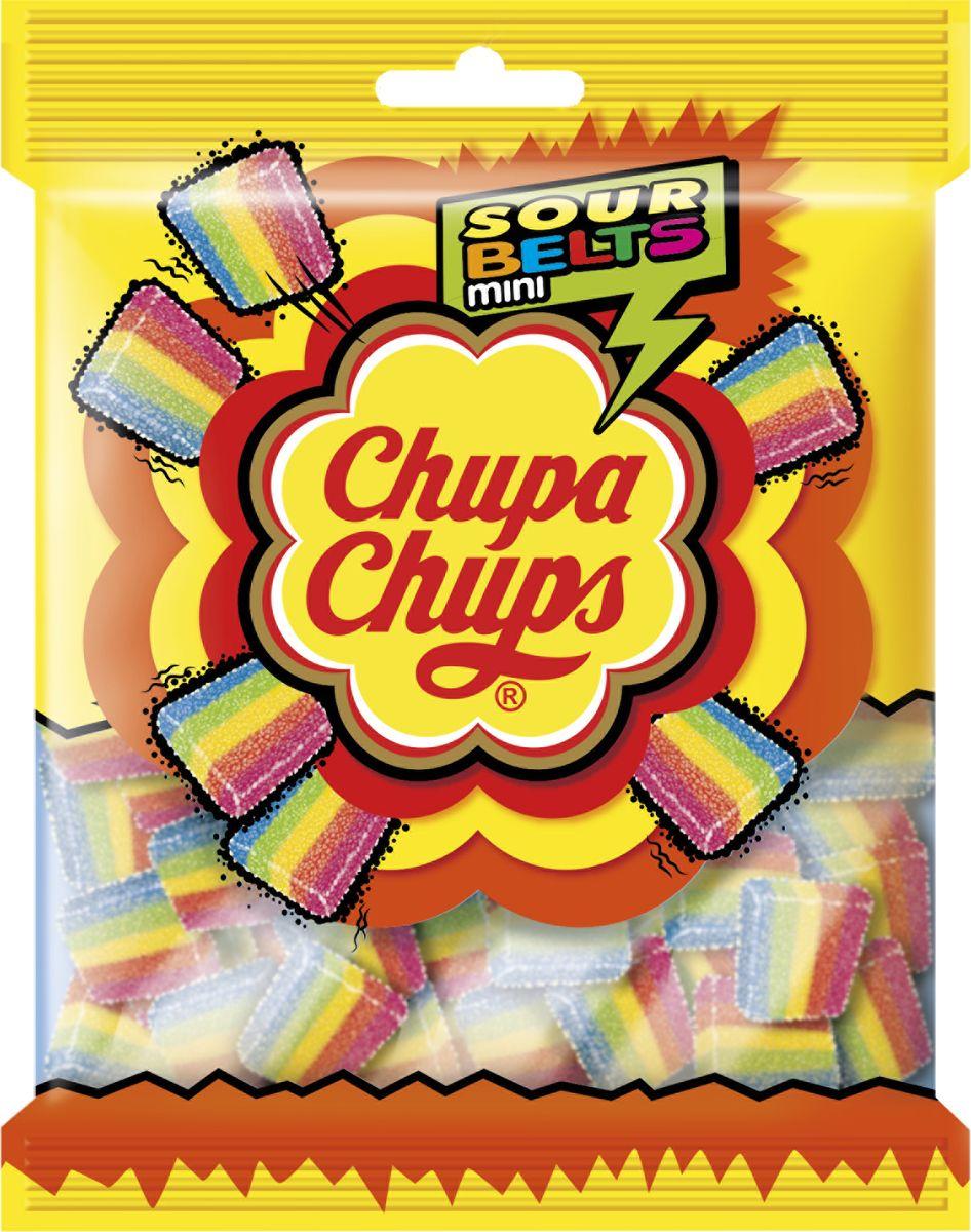 Chupa chups Sour belts mini жевательный мармелад, 150 г chupa chups chp400