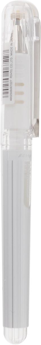 Pentel Ручка гелевая Hybrid Gel Grip цвет чернил белый пикассо pimio ps 609 оранжевые белый клип перо финансы чернила