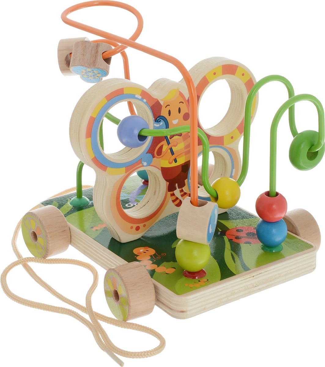 Мир деревянных игрушек Лабиринт-каталка Бабочка набор для развития моторики мир деревянных игрушек д189