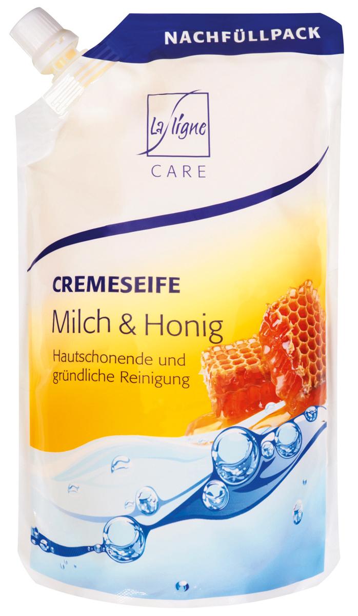 La Ligne Жидкое мыло Молоко и мед, 500 мл806398Жидкое мыло Молоко и Мед (в экономичной упаковке) бережно и тщательно очищает кожу рук и тела, не вызывает при этом ее сухости. Нежные, увлажняющие вещества сохраняют влагу в коже. Хорошая совместимость с коже подтверждена дерматологами- мягкие вспомогательные тензины на основе воспроизводимого сырья.
