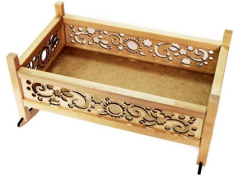Master Wood Кроватка для куклы кроватка качалка для кукол полесье кроватка качалка сборная для кукол 2