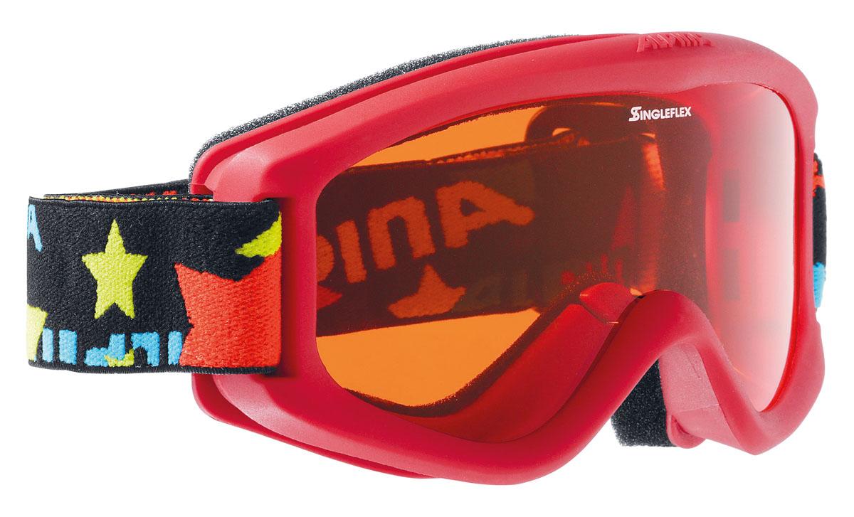 """Очки горнолыжные Alpina """"Carvy 2.0 SH"""", цвет: черный, красный"""