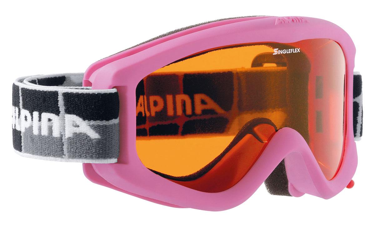 цена на Очки горнолыжные Alpina Carvy 2.0 SH, цвет: черный, белый, лиловый